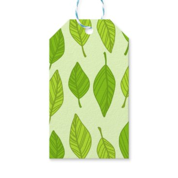 colourarts falling green leaves gift tags