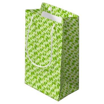 colourarts falling green leaves small gift bag