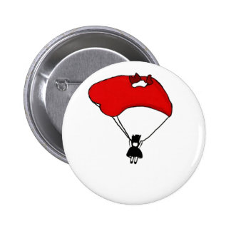falling hard pinback button