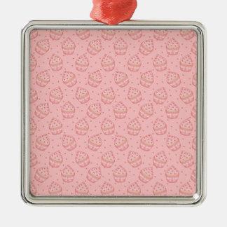 Falling Heart Cupcake Pattern Ornaments