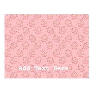 Falling Heart Cupcake Pattern Post Cards