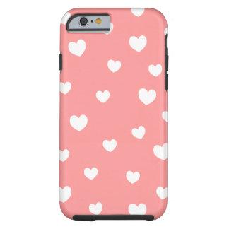 falling hearts iPhone 6 case- choose your backgrou Tough iPhone 6 Case