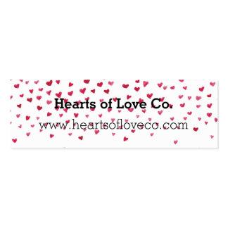 Falling Hearts Mini Business Card