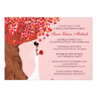 Falling Hearts Oak Tree Fall Bridal Shower Invite
