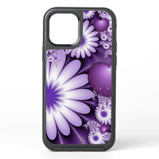 Falling in Love Abstract Flowers & Hearts Fractal OtterBox Symmetry iPhone 12 Case