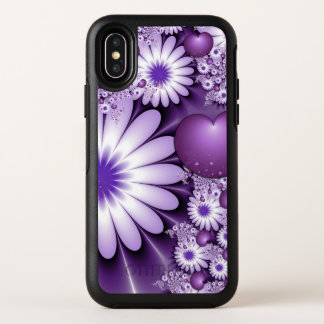 Falling in Love Abstract Flowers & Hearts Fractal OtterBox Symmetry iPhone X Case