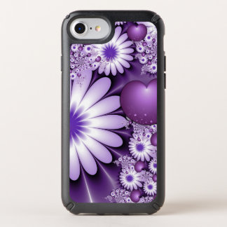 Falling in Love Abstract Flowers & Hearts Fractal Speck iPhone Case