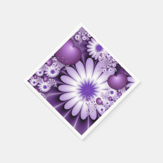 Falling in Love Abstract Fractal Art Napkin