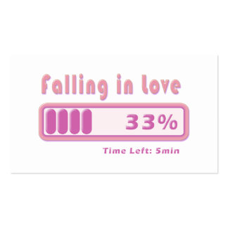 Falling in Love percentage Business Card Templates