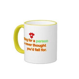 Falling in love ringer mug