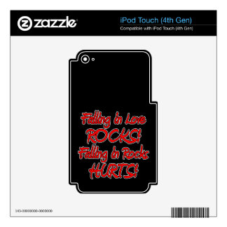 falling in love & rocks iPod touch 4G decals