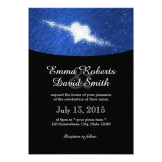 Falling in Love Starry Night Wedding Announcement