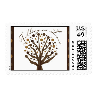"""Falling in Love"" Wedding Invitation Stamp"