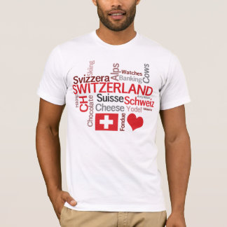 Falling in Love With Switzerland! Swiss Theme T-Shirt
