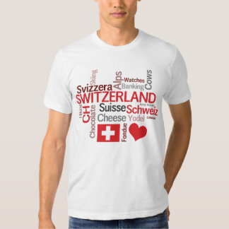 Falling in Love With Switzerland! Swiss Theme Tee Shirt