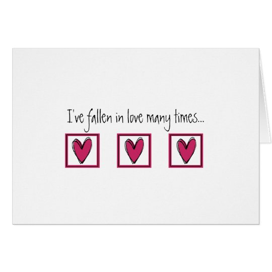Falling In Love With You Card
