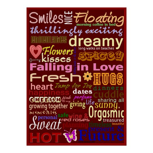 Falling in Love WordArt™ Poster