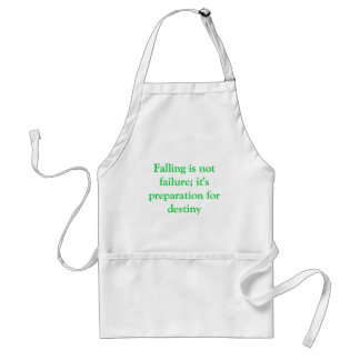 Falling is not failure adult apron