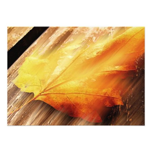 Falling Leaf Invitation