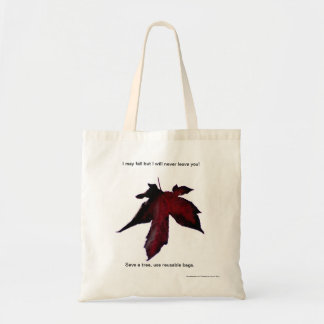 Falling Leaf reusable grocery bag, tote. Tote Bag
