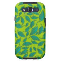 Falling Leafs Pattern Green Samsung Galaxy S3 Case