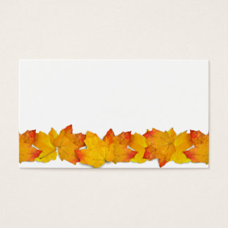 Falling Leaves 100 Blank Place Cards