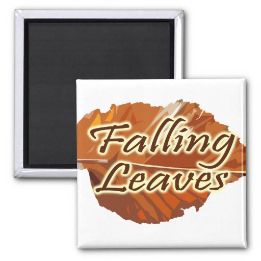 Falling Leaves 2 Inch Square Magnet