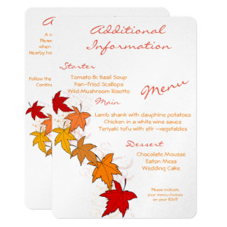 Falling Leaves Additional Information Card