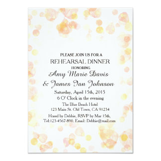 Falling leaves autumn color rehearsal dinner fl1 card
