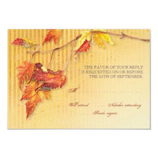 Falling Leaves - Autumn Fall Reception Invitations