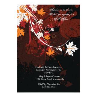 Falling Leaves - Autumn Invitation