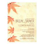 Falling Leaves Bridal Shower Invitations Announcement