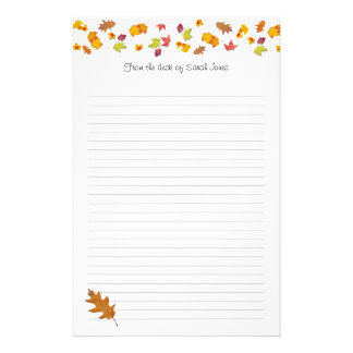 Falling leaves Decorated Note Writing Paper