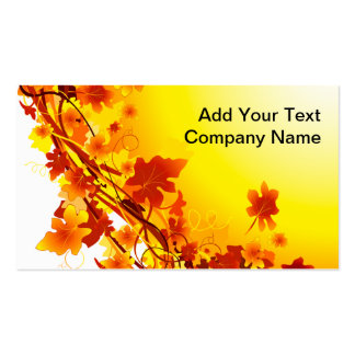 Falling Leaves Double-Sided Standard Business Cards (Pack Of 100)