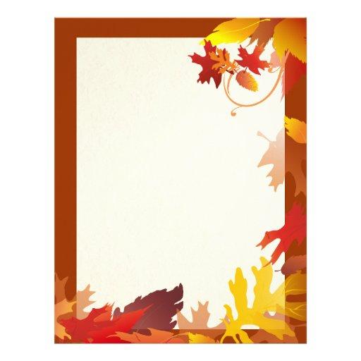 Falling Leaves - Framed Autumn Letterhead