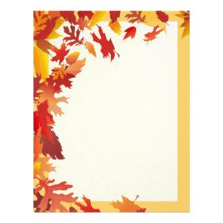 Falling Leaves - Gold Framed Autumn Letterhead