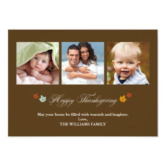 Falling Leaves Happy Thanksgiving Cards