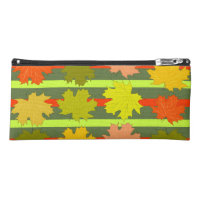Falling leaves in autumn pencil case