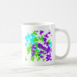 Falling Leaves in Turquoise, Purple and Lime Coffee Mug