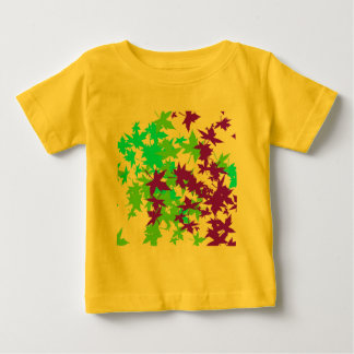 Falling Leaves in Turquoise, Purple and Lime T-shirt