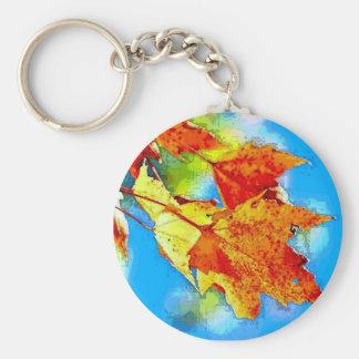 Falling Leaves Keychain