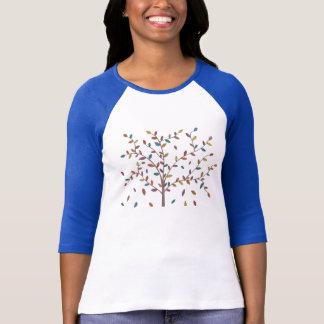 Falling Leaves Oak Tree Hand Drawn Art T-Shirt