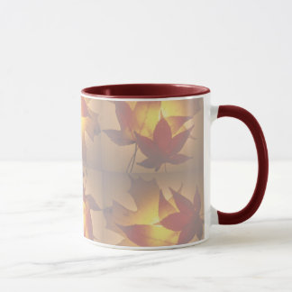 FALLING LEAVES of RED & GOLD by SHARON SHARPE Mug