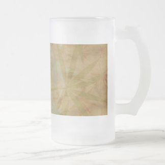 Falling Leaves on Antiqued Background Frosted Glass Beer Mug