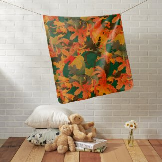 Falling Leaves Pattern for Autumn Baby Blanket