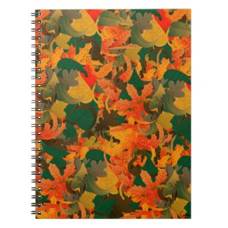 Falling Leaves Pattern for Autumn Notebook
