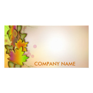 FALLING LEAVES Product Announcement Template Customized Photo Card