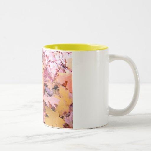 Falling Leaves Two-Tone Coffee Mug