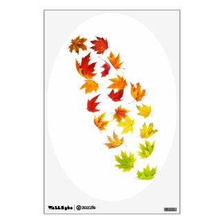Falling leaves wall sticker