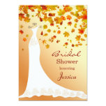 Falling leaves, Wedding gown Bridal Shower Invite
